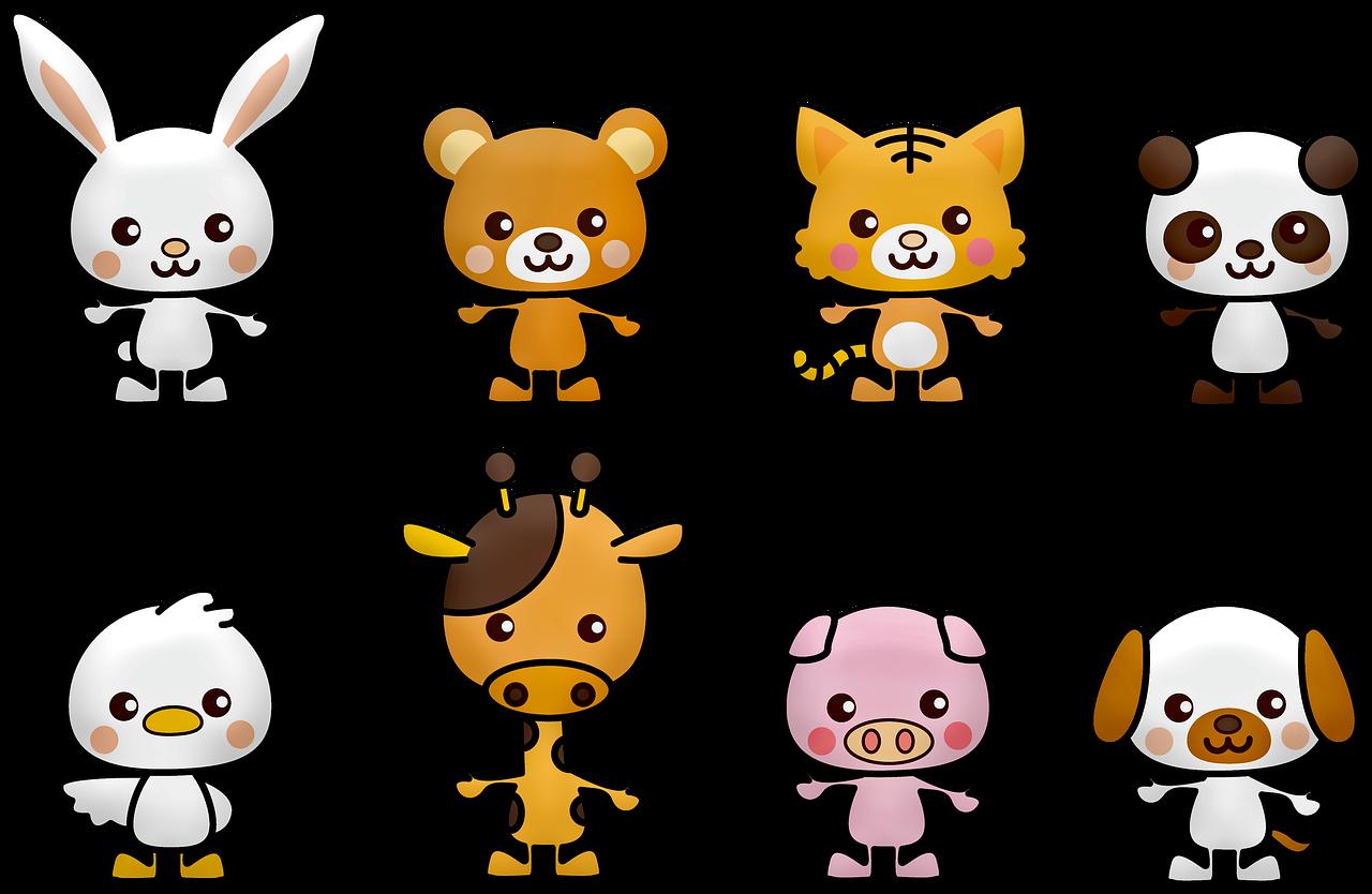 חיות מסוגים שונים